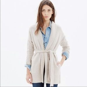 Madewell Sz S Shawl Collar Wrap Cardigan Sweater
